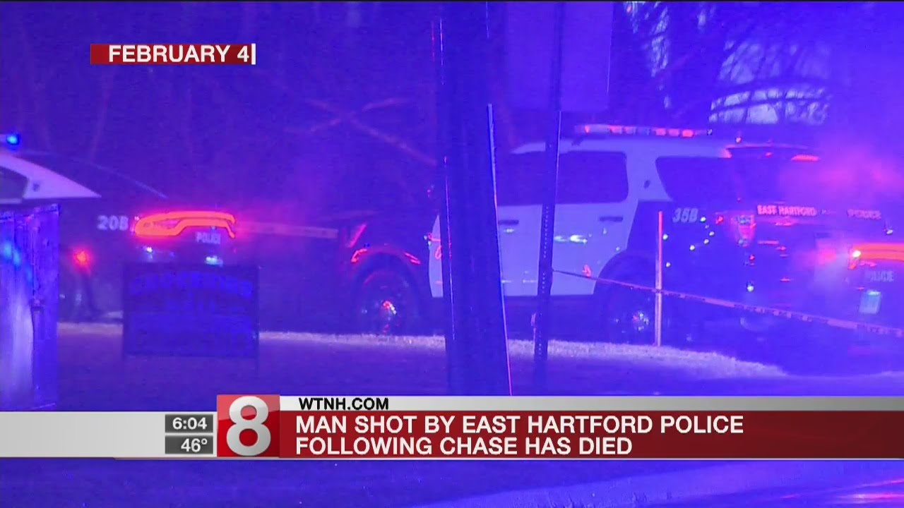 Man shot by East Hartford police following chase has died - Dauer: 20 Sekunden