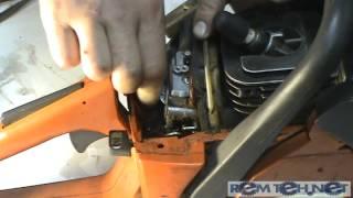 Замена импульсного патрубка в бензопиле Husqvarna 142