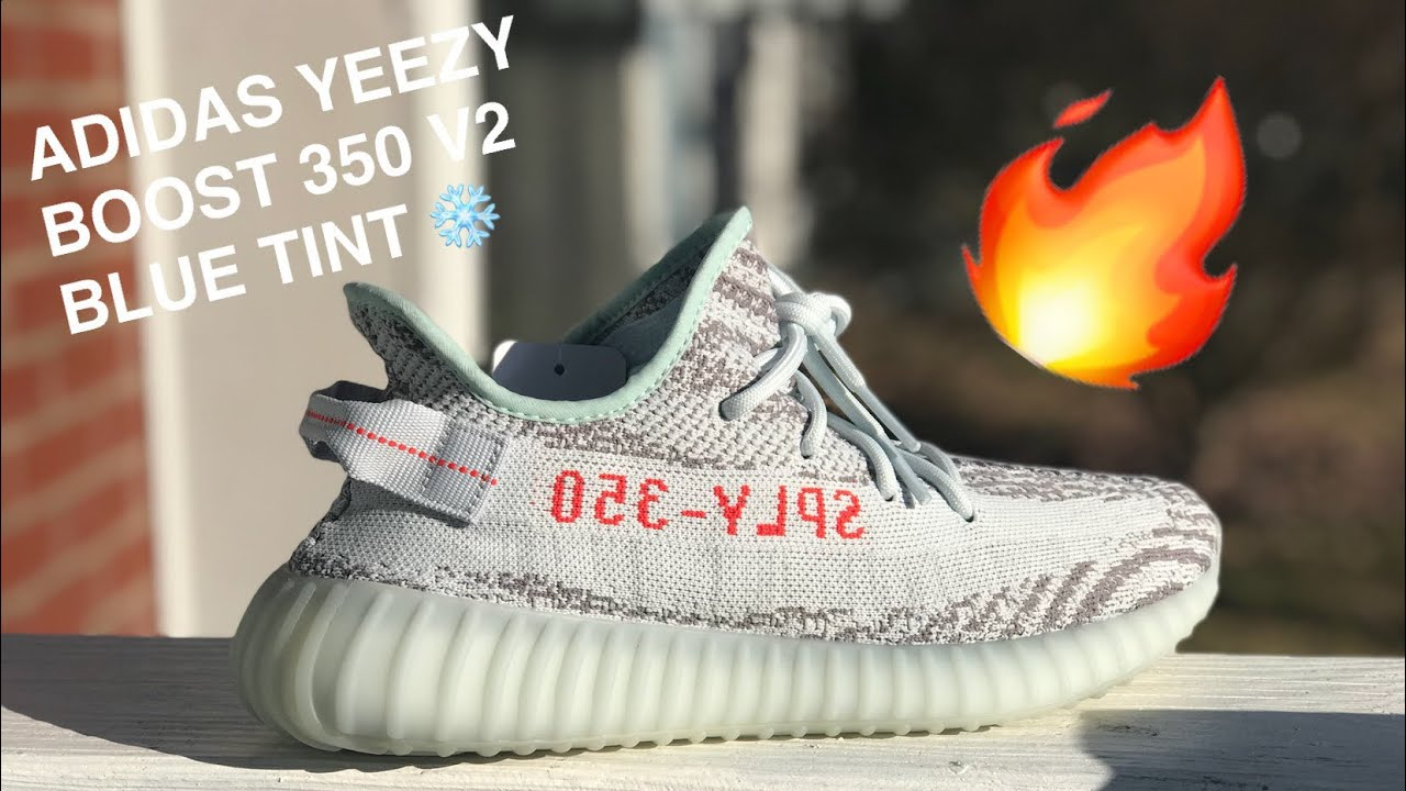 3baf7ba78 ADIDAS YEEZY BOOST 350 V2 BLUE TINT REVIEW   ON FOOT