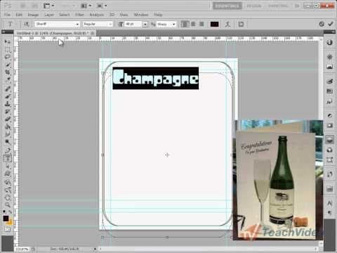 Создание этикетки в Photoshop (2/17)