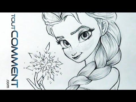 Dessiner Elsa La Reine Des Neiges Elsa Drawing Tutorial