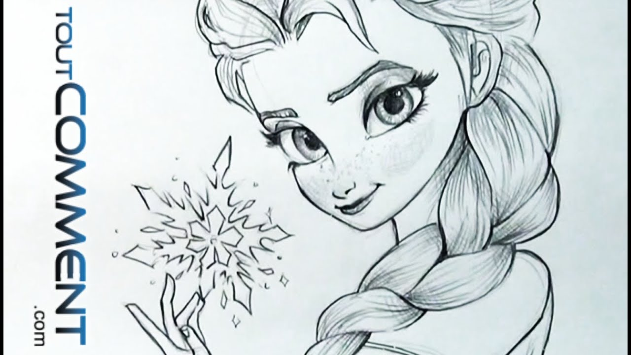 Dessiner elsa la reine des neiges elsa drawing tutorial frozen youtube - Dessiner disney ...