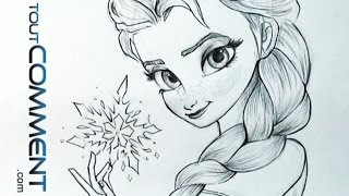 Dessiner Elsa, La Reine des neiges / Elsa Drawing Tutorial Frozen
