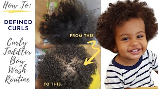 Toddler Curly Hair Care Routine Boy for Winter || VLOGMAS 2018 DAY 9 ||