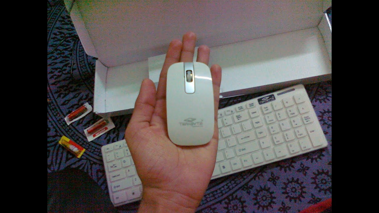 Unboxing My New Terabyte Wireless Keyboard Mouse Review Test Slim 24ghz Compatible For Laptop Notebook Youtube