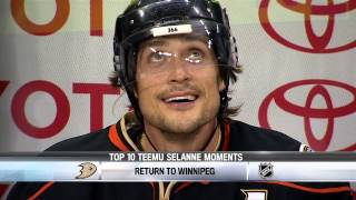 Top 10 Teemu Selanne Moments 5/19/2014