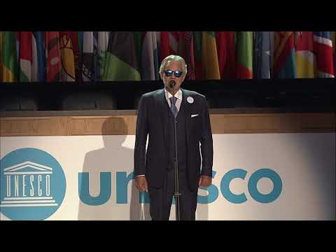 Andrea Bocelli sings  at UNESCO General Conference