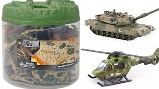 IT'S WAR!! Elite Force Battle Group Figurines, Tanks, Helicopter, Fighter Jet Army Toys