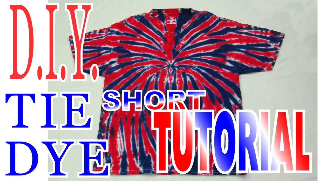 bc823381c9ca Tie Dye Spider Firewok Shirt  Short Tutorial   51 - YouTube