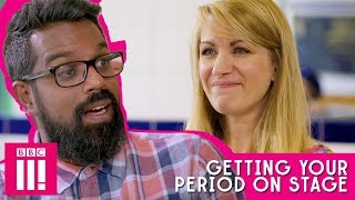 Getting Your Period During A Performance | Romesh Chats To Rachel Parris About Tinder And More