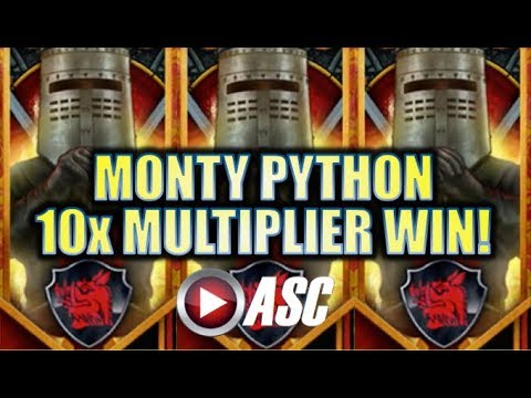 ★BIG WIN RUN!★ DOUBLED, TRIPLED, OR MORE? MONTY PYTHON & THE HOLY GRAIL Slot Machine Bonus [REPOST]