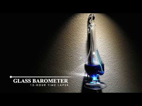 Glass Barometer 12-Hour Time Lapse During Stormy Day
