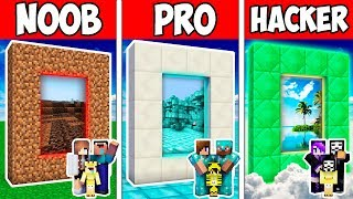Minecraft Noob Vs Pro Vs God  Family Secret Block Portal Adventure In Minecraft  Animation