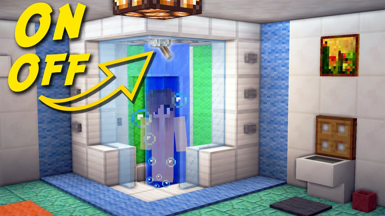 minecraft bathroom ideas minecraft how to make a working shower bathroom for 14196
