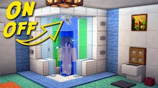 Minecraft: How to Make a Working Shower - Bathroom For Modern House - Build Tutorial