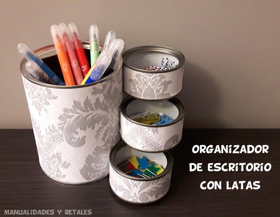 Organizador de escritorio con latas youtube - Organizador escritorio ...