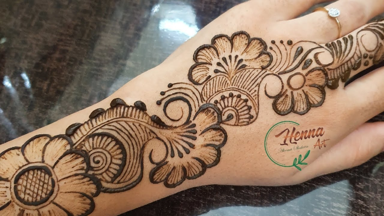 easy simple arabic mehndi designs for left hand