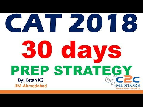 30 Days to CAT | Preparation Strategy and Planning