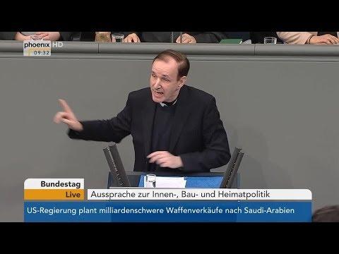Horst Seehofer und Gottfried Curio im Bundestag zur Innen-, Bau- und Heimatpolitik | 23.03.2018