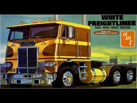 How to Build the White-Freightliner Dual-Drive Tractor 1:25 Scale AMT Model Kit #A620 Review