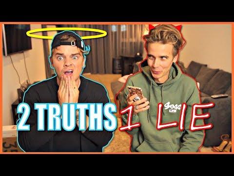 2 TRUTHS 1 LIE | ft. THATCHERJOE