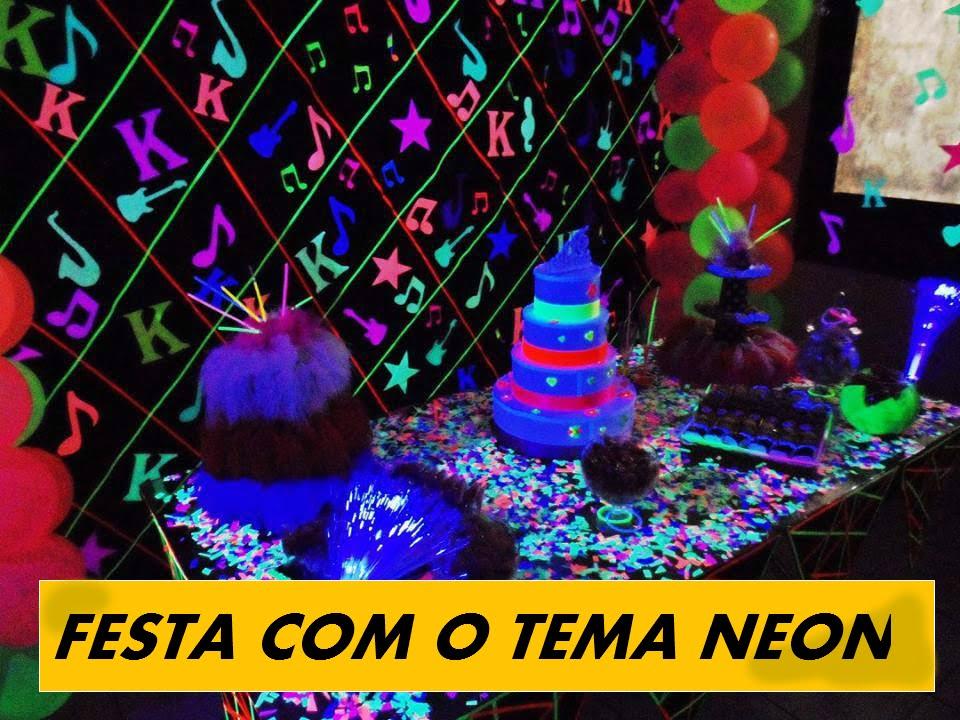 Festa neon doces e tudo mais