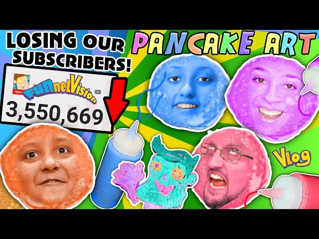 R WE LOSING SUBSCRIBERS + PANCAKE ART CHALLENGE! 3rd DAILY VLOG! FUNnel Vision Apology Reaction
