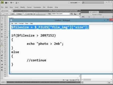 php 2 how to check or validating the image when upload