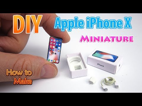 DIY Realistic Miniature Apple iPhone X | DollHouse | No Polymer Clay!
