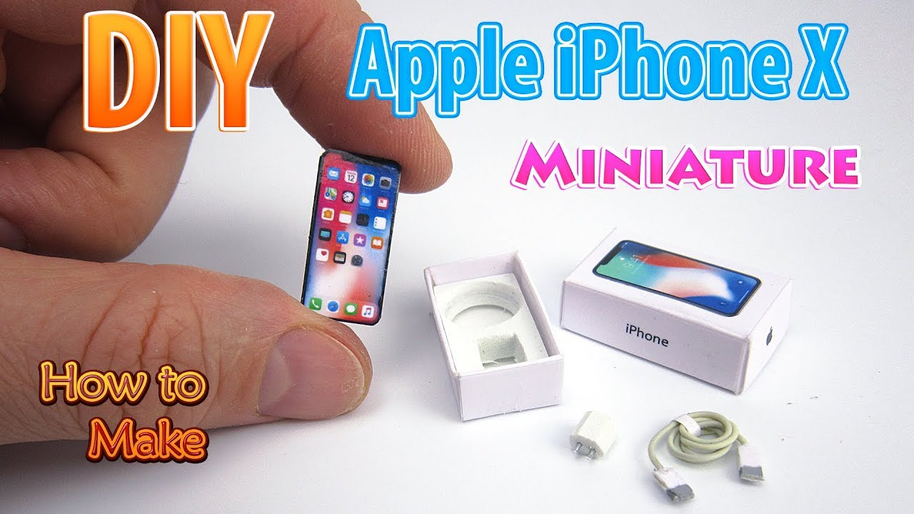 Diy Realistic Miniature Apple Iphone X Dollhouse No Polymer Clay