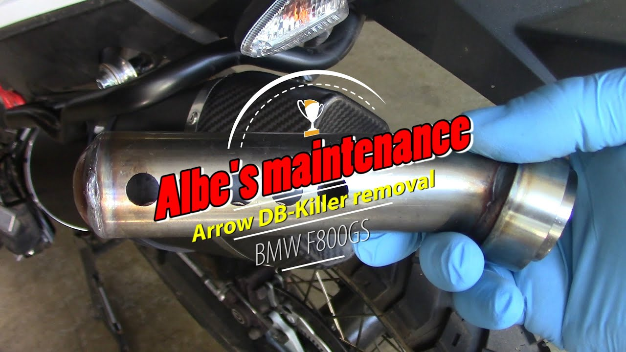 Arrow exhaust db killer removal