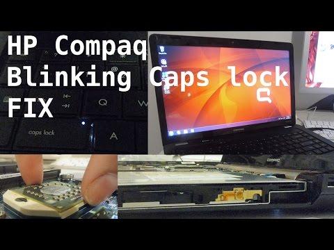 HP Compaq CQ62 Blinking caps lock key fix - YouTube