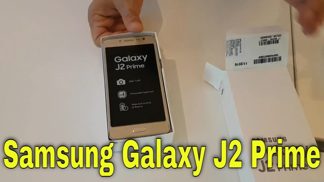 Abrindo Novo Galaxy J2 Prime Gold