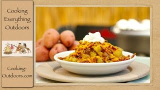 Loaded Dutch Oven Potatoes Recipe | Dutch Oven Cooking