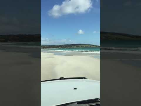 Driving on Emu Bay Beach