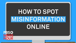 WATCH: How to spot misinformation online