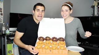 Donut Challenge || Dozen Dunkin Donuts Challenge || OurStorySoFar