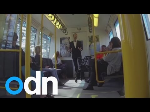 Man starts train dancing party in Perth, Australia