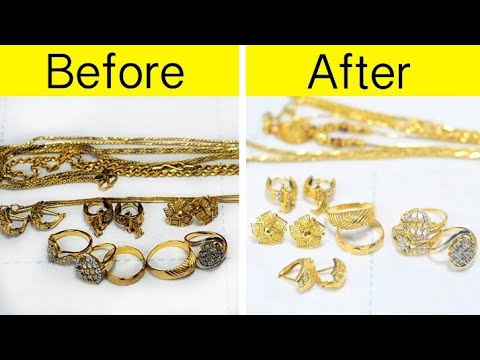 How to Clean Gold Jewellery at Home? | Polish and Clean Gold Jewellery at Home | Simple Hacks |