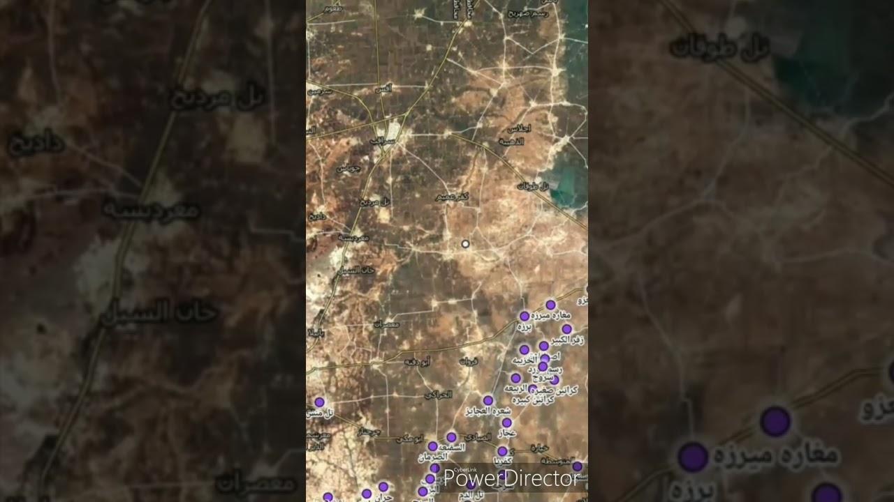 خريطه توزيع السيطره لجيش السوري في ريف إدلب الجنوبي ااشرقي