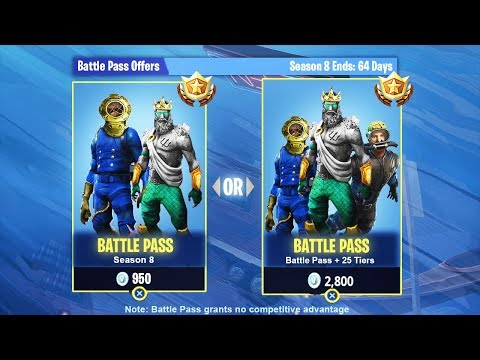 new season 8 battle pass bundle in fortnite season 8 leaked - fortnite season 8 battle pass rewards leaked