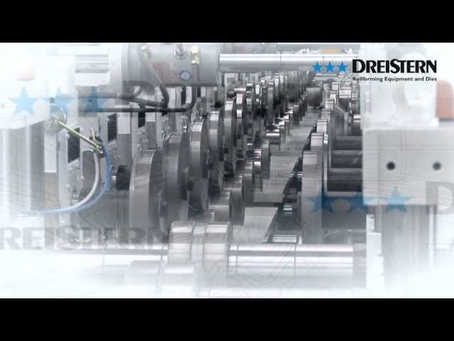 DREISTERN roll forming line for shelf-profiles / Profilieranlagen für Regalprofile