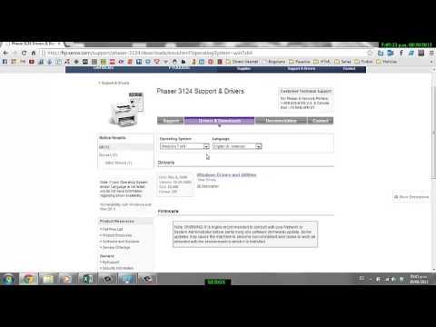 Скачать драйверу на принтер xerox phaser 3116 windows 7