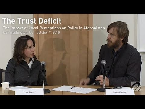 The Trust Deficit: The Impact of Perceptions on Policy in Afghanistan