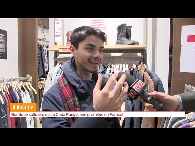 SO City   Boutique solidaire de la Croix Rouge  une première en France