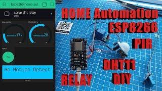 Умный дом со смартфона за 20 мин .Домашняя автоматика на ESP8266 Датчик движения,DHT11 ,реле .