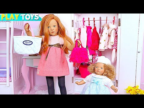 Thumbnail: Petitcollin Baby Doll Bunk Bed and Doll Dress up in Pink Bedroom