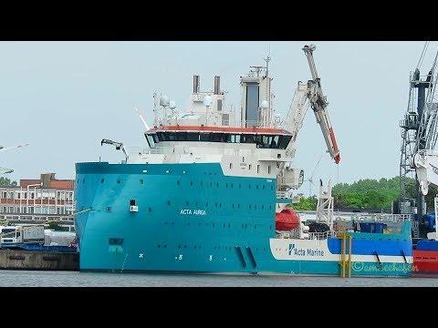 brandnew X-Bow offshore supply ship ACTA AURIGA PDEI IMO 9822815 BJ 2018
