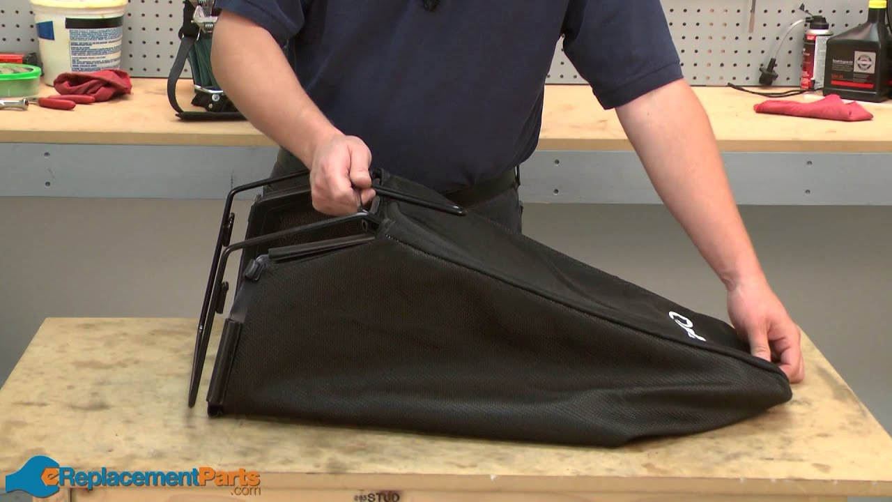 How To Replace The Grass Bag On A Troy Bilt Tb130 Lawn