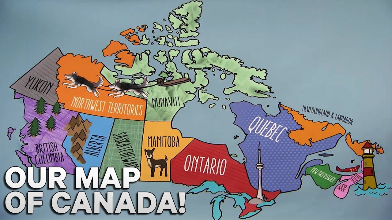 our map of canada zone on the road